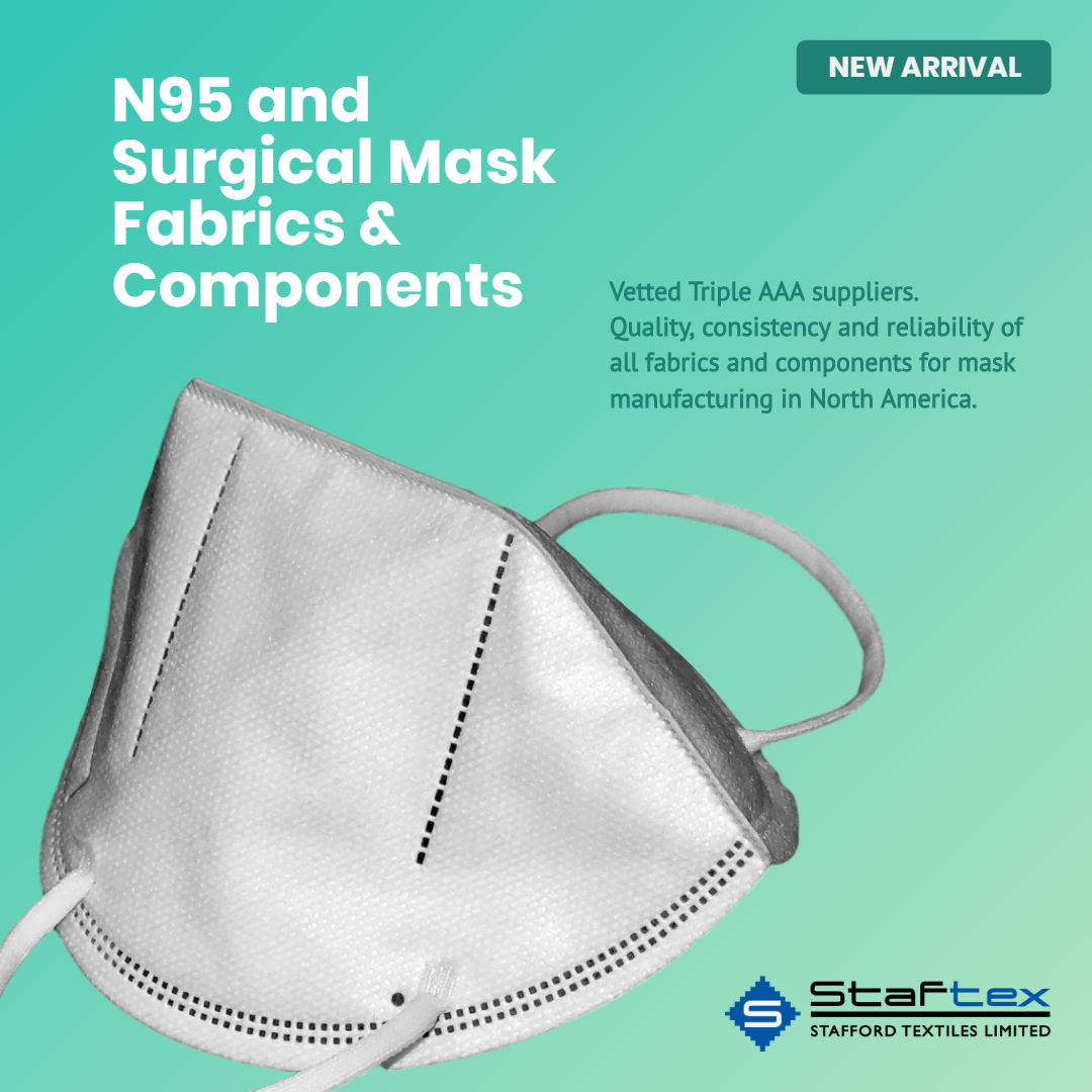 N95 and Surgical Mask Fabrics and Components